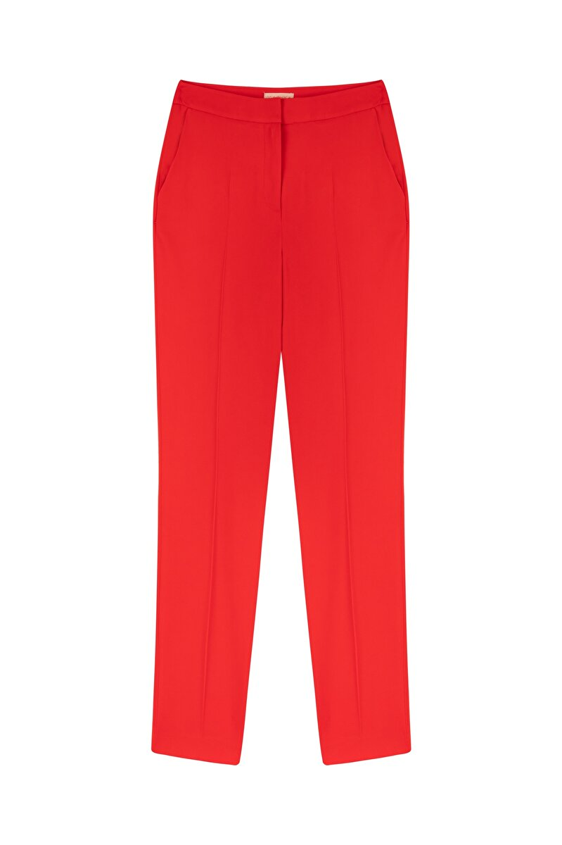CREPE CARROT FIT PANTS