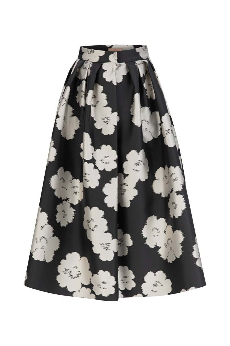 HUGE FLOWER JACQUARD SKIRT