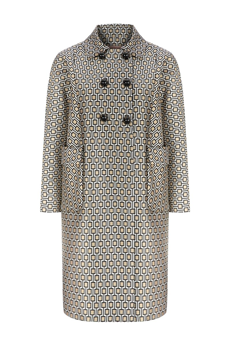 DOUBLE CLOSED JACQUARD TOPCOAT