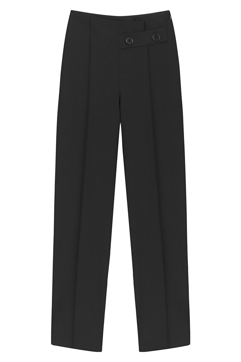 HIGH WAISTED BUTTON ACCESSORY PANTS