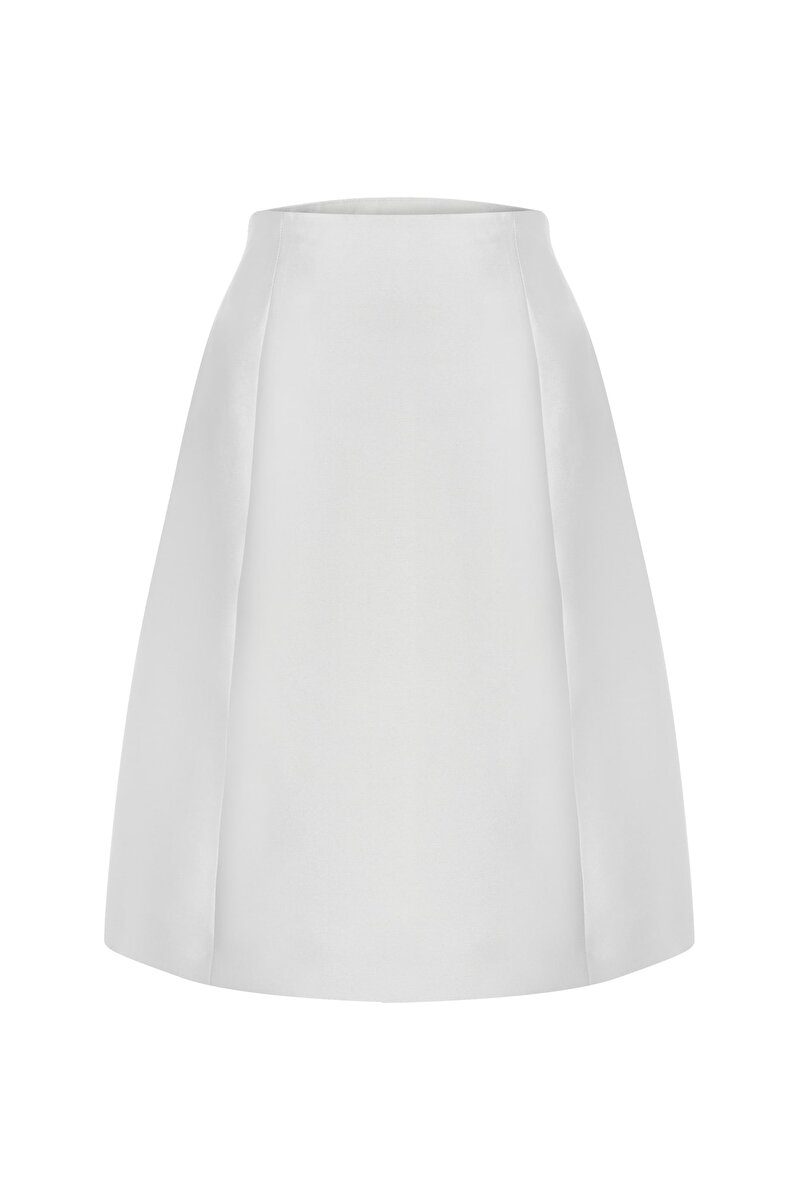 CUP DETAILED SATIN A-LINE SKIRT