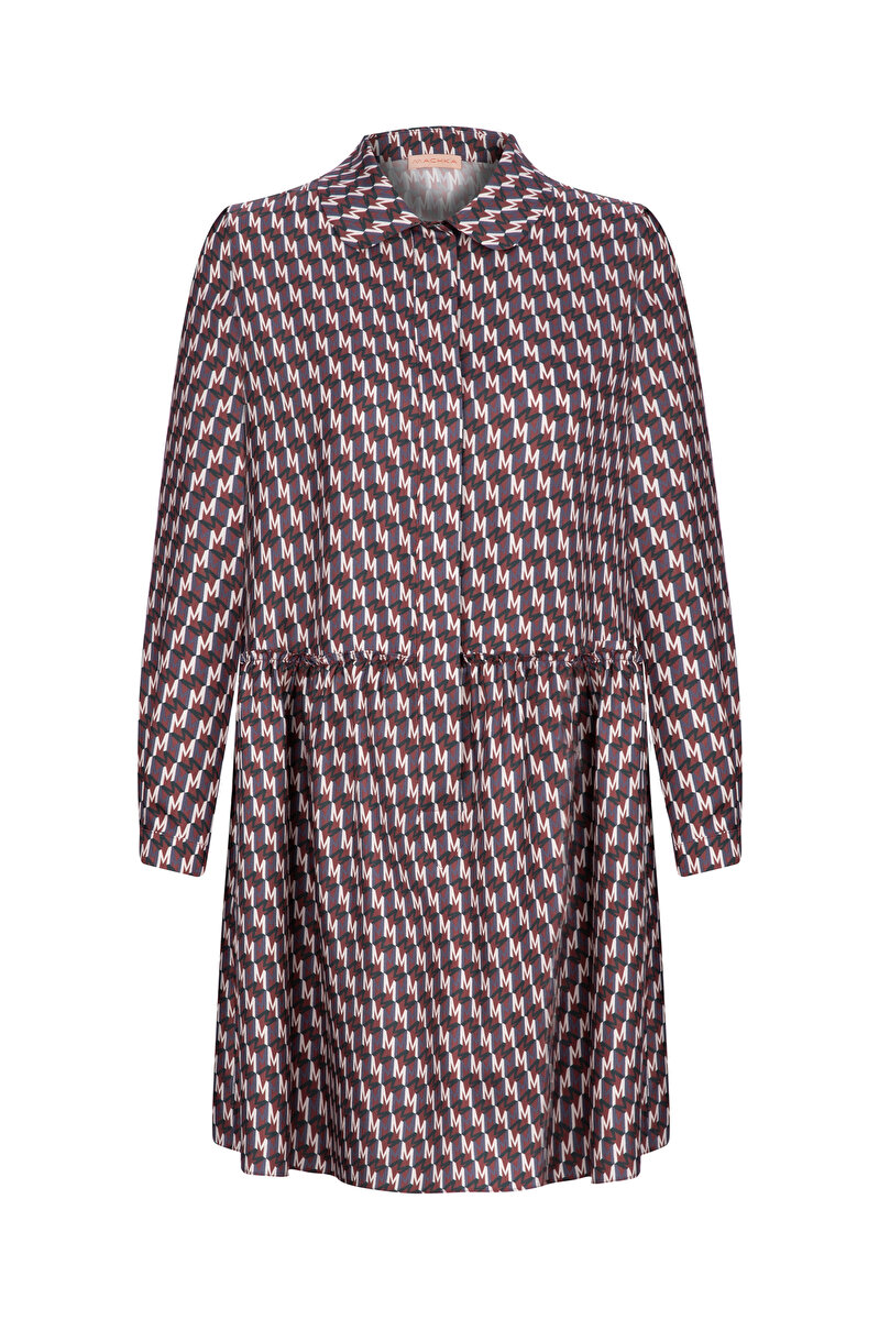 M FOR MACHKA PATTERNED SILK DRESS