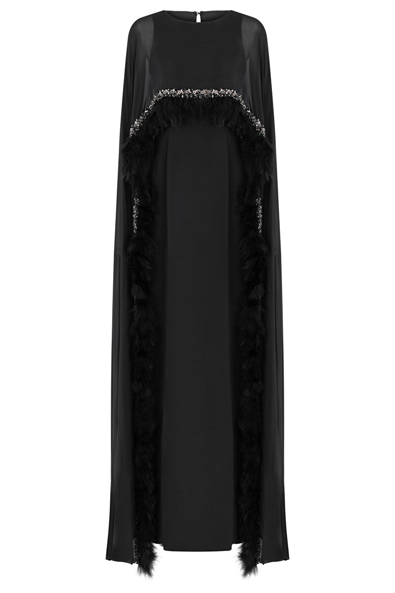 CLOAK DETAILED DRESS