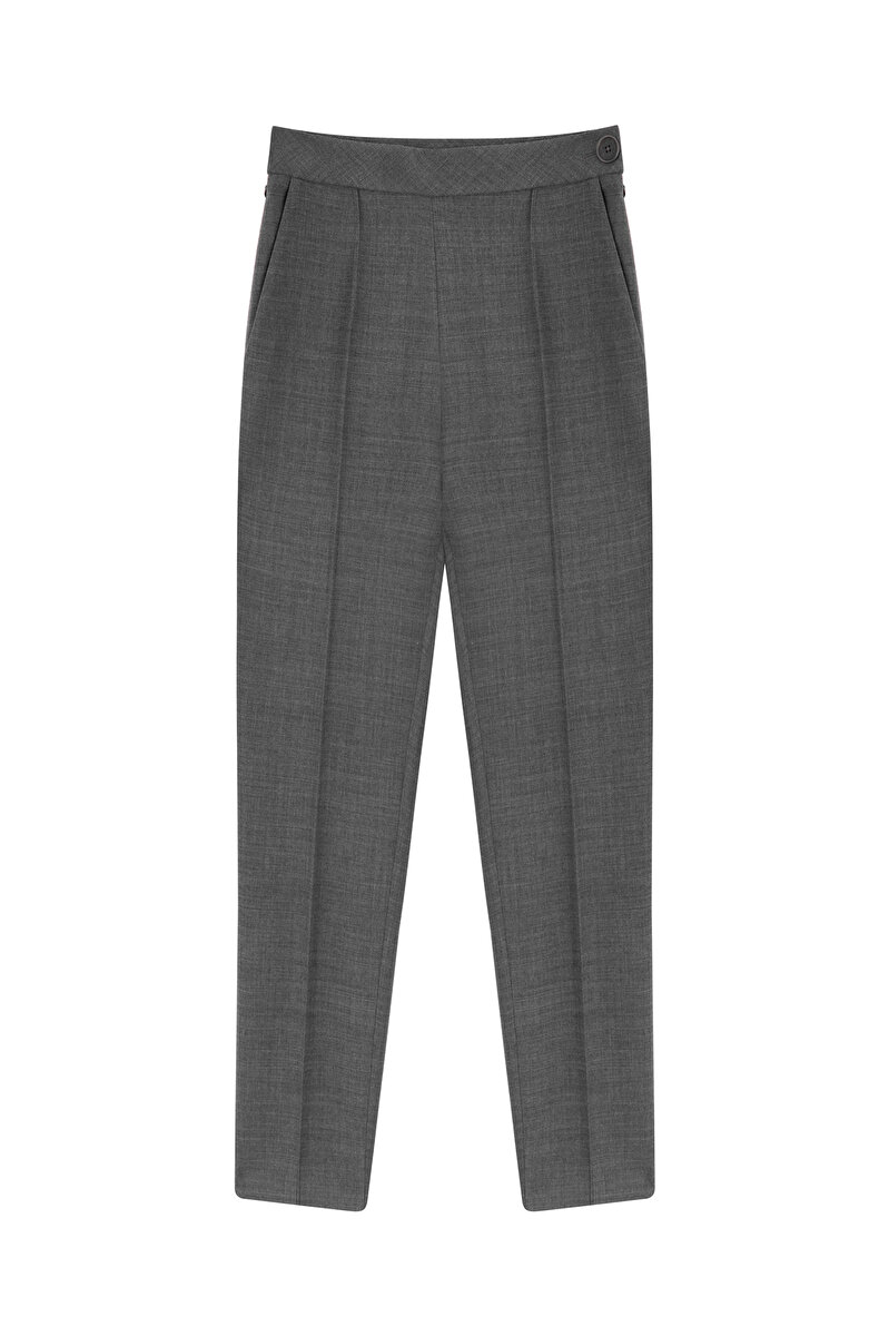 CIGARETTE WOOL GABARDINE PANTS
