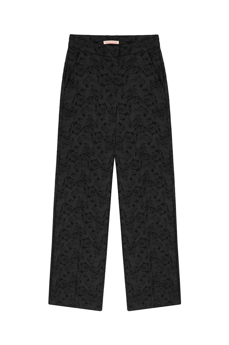 WIDE CUT BROCADE PANTS