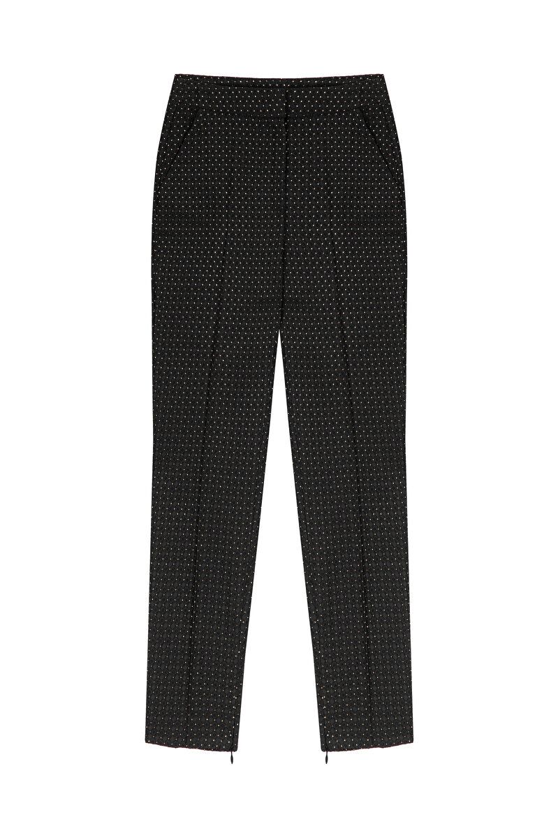 CIGARETTE MINI SPOTTED JACQUARD PANTS