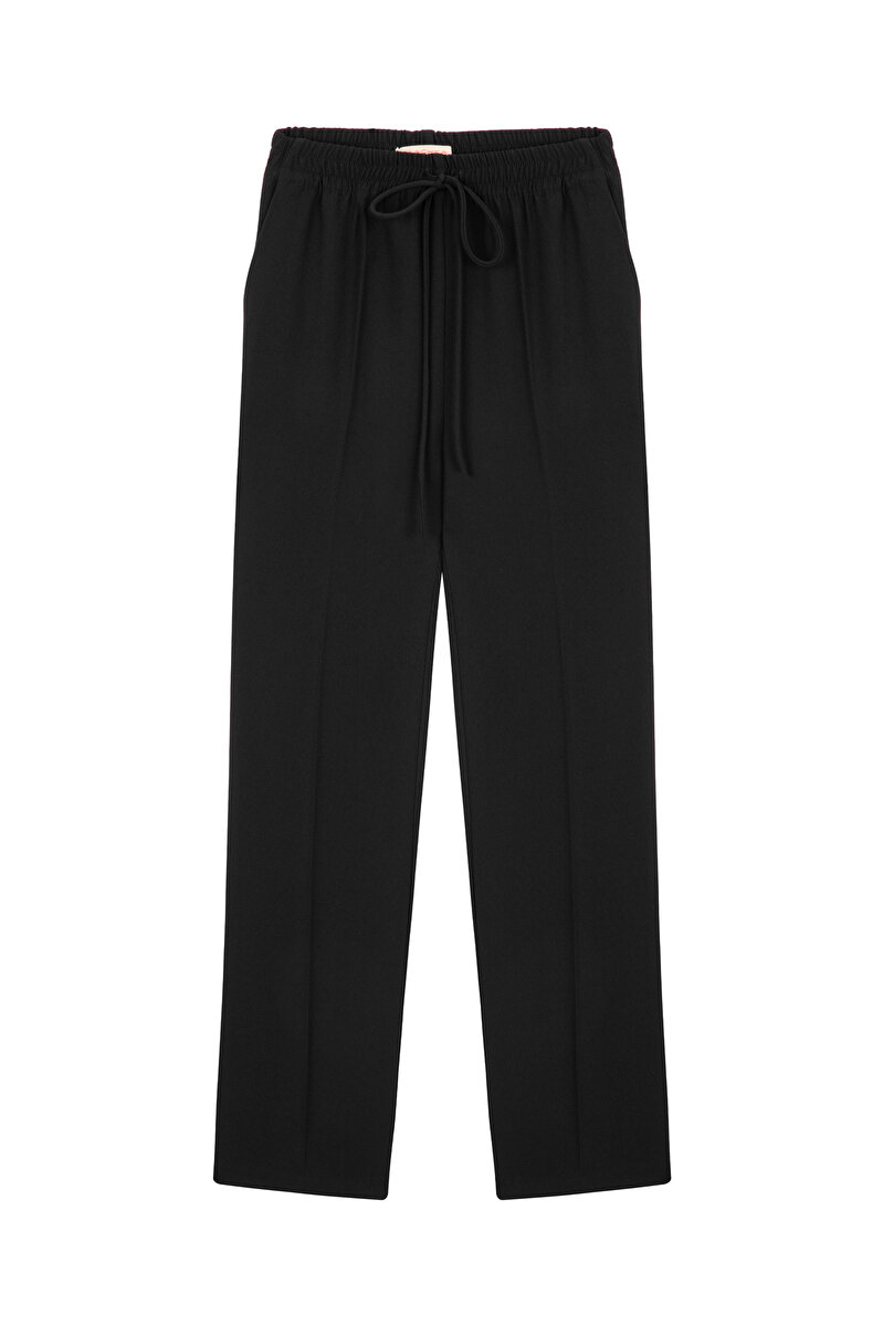WIDE CUT CREPE PANTS