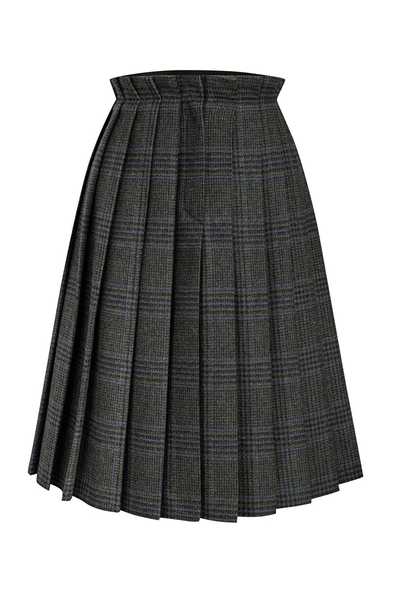 WOOL SKIRT WITH INVERTED PLEAT
