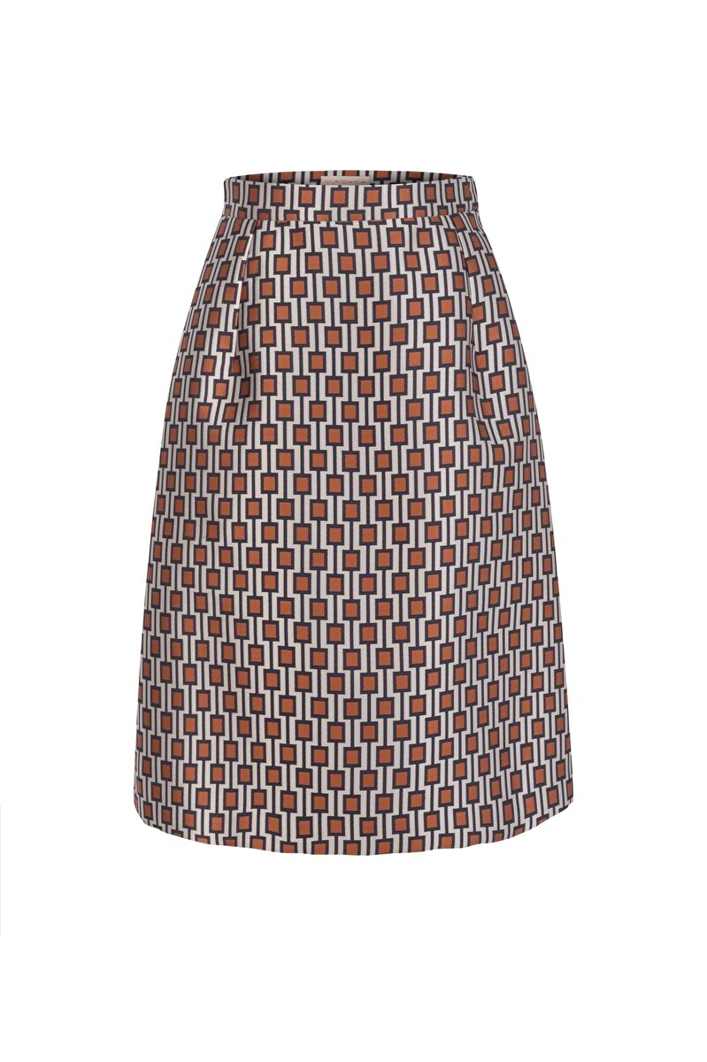 GEOMETRICAL JACQUARD SKIRT